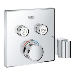 Grohe Grohtherm Smartcontrol afdekset vierkant v/thermostaat met houder chroom Chroom 29125000