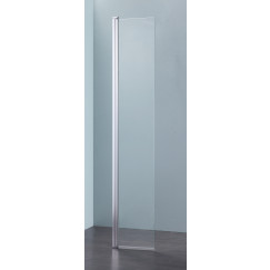 Novio Free Mix draaideel walk-in 25x200 cm. hoogglans-helder Chroom Look