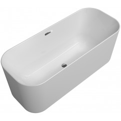 Villeroy & Boch Finion vrijstaand bad 170x70 push-to-open afvoerplug Wit-chroom UBQ177FIN7A100V401
