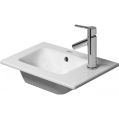 Duravit Me By Starck meubelfontein 43x30 1x kraangat rechts gliss wit Wit 07234300001