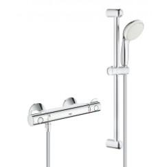Grohe Grohtherm 800 comfortset met thermostaat-glijstang 60 cm. chroom Chroom 34565001