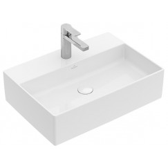 Villeroy & Boch Memento 2.0 opzet wastafel 60x42 m/kraangat m/overl.plus wit Wit 4A0760R1