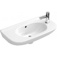 Villeroy & Boch O.novo fontein 50x25 kraangat li.m/overl.plus wit Wit 536154R1