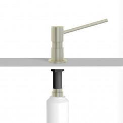 Novio Umea inbouw zeepdispenser 500 ml. geborsteld Geborsteld