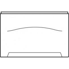 Wisa  zijpaneel recht 75 cm. wit Wit 5050400813