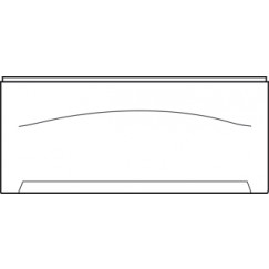 Wisa  frontpaneel recht 170 cm. wit Wit 5050400811