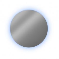 Looox Cm-line spiegel 80cm.rond met rgb-w led alu helder Aluminium SPCM800