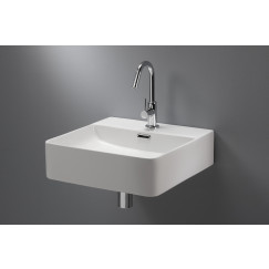 Novio Legato opzetwastafel rh.42x42x12 cm. m/overl.m/krgt. wit Wit