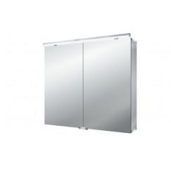 Emco Asis Pure Led led lichtspiegelkast met wastafelverlichting 80cm. Aluminium 979705282