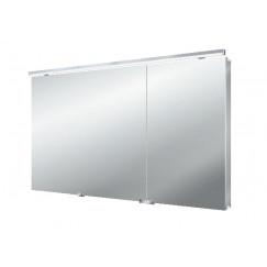 Emco Asis Flat Led led lichtspiegelkast m/wastafelverlichting 120 cm. Aluminium 979705266