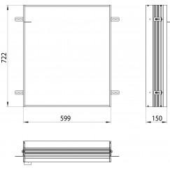 Emco Asis Prime 2 montageraam 60 cm.voor 9497 0xx 31/32/33 aluminium Aluminium 949700020