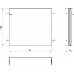 Emco Asis Prime 2 montageraam 80 cm. voor 9497 0xx 34 aluminium Aluminium 949700019