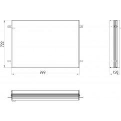 Emco Asis Prime 2 montageraam 100 cm. voor 9497 0xx 35 aluminium Aluminium 949700018