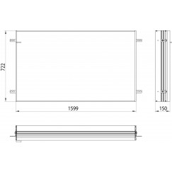 Emco Asis Prime 2 montageraam 160 cm. voor 9497 0xx 38 aluminium Aluminium 949700015