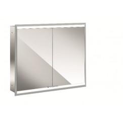 Emco Asis Prime 2 led spiegelkast 80 inb.2xdeur achterwand spiegel