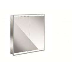 Emco Asis Prime 2 led spiegelkast 60 inb.2xdeur achterwand wit glas Wit 949706133