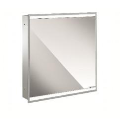 Emco Asis Prime 2 led spiegelkast 60 inb.1x deur achterwand wit glas Wit 949706131