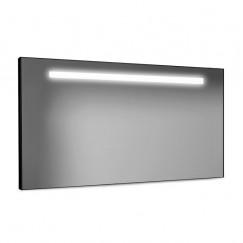 Looox Black Line spiegel  met led verlichting 120x60 cm. zwart Zwart SPBL1200-600B
