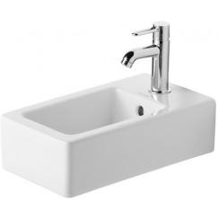 Duravit Vero fontein 25x45 cm. met overloop wit Wit 0702250000