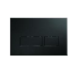 Novio Solo bedieningsplaat knop rechthoekig mat zwart Mat Zwart