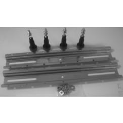 Duravit  badpoten a 2 stuks voor afmeting >1000mm Staal 790100000000000