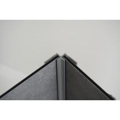 Huppe Easystyle hoekprofiel binnen zilver mat Mat Zilver ES0202087