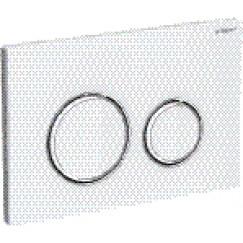 Geberit Sigma 21 bedieningsplaat front glas wit-chroom Wit 115.884.SI.1