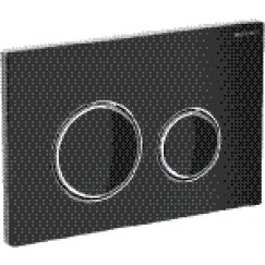 Geberit Sigma 21 bedieningsplaat voor 2-toets spoeling glas zwart Zwart Chroom 115.884.SJ.1
