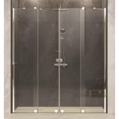 Novio Pure Day deur schuif helft 160-200x200 timeless glanszilver Chroom Look