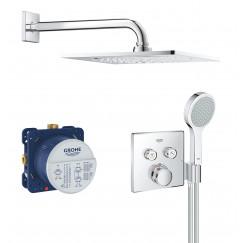 Grohe Grohtherm Smartcontrol comfortset inbouw f-serie 254 chroom Chroom 34742000