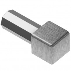 Schluter Quadec buitenhoek profiel rvs geborsteld 12,5mm Rvs Geborsteld EV/Q125EB