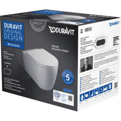 Duravit Me By Starck pack wandcloset met softclose zitting wit Wit 45290900A1