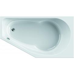 Novio Tenno bad rechthoek 160x90cm rechts met douchevlak wit Wit