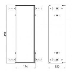 Emco Asis Module montageraam 491x174 mm. aluminium Aluminium 973000031