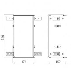 Emco Asis Module montageraam 340x174 mm. aluminium Aluminium 972500021