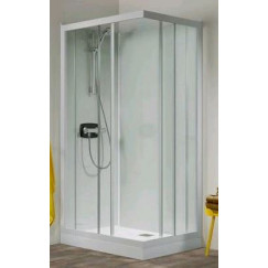 Kinedo Kineprime Glass cabine 90x90 schuifdeur+thermostaat douchebak 18cm Wit-helder CA712TTN