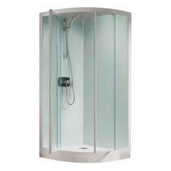 Kinedo Kineprime Glass kwartr.cabine 90 draaid+therm.douchebak 9 wit-held Wit CA782TTN