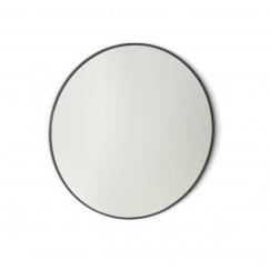 Novio Liam spiegel rond 100 cm. mat zwart Mat Zwart