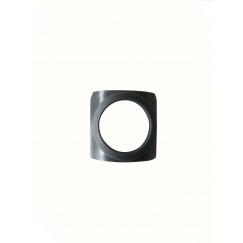 Guo Be Fresh Round rubber v/binnenzijde glijmech.20,5mm a2st grijs Grijs