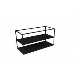 Novio Liam frame met bodemplaat 100x45 mat zwart Mat Zwart