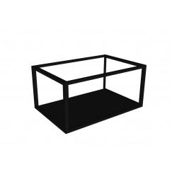 Novio Max frame met bodemplaat 60x40 mat zwart Mat Zwart