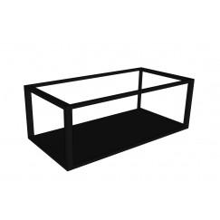 Novio Max frame met bodemplaat 80x40 mat zwart Mat Zwart