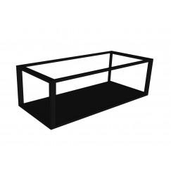 Novio Max frame met bodemplaat 100x40 mat zwart Mat Zwart