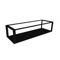 Novio Max frame met bodemplaat 120x40 mat zwart Mat Zwart
