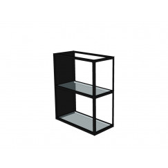 Novio Liam regaal met glasplanchets 20x45x52 mat zwart Mat Zwart