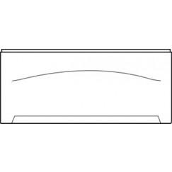 Wisa Levanto frontpaneel recht 190 cm. wit Wit 5050400827
