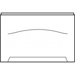Wisa Levanto zijpaneel recht 90 cm. wit Wit 5050400828
