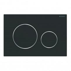 Geberit Sigma 20 bedieningsplaat mat zwart Mat Zwart 115.882.14.1