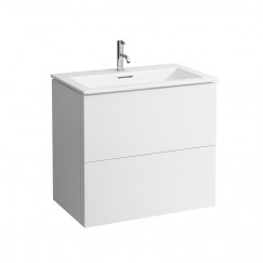 Laufen Kartell By Laufen meubelset 80x50 1 kraangat pebble grey Pebble Grey H8603356411041