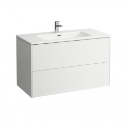 Laufen Pro S meubelset 100x61 1 kraangat wit Wit H8649622611041